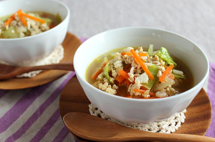 押し麦 スープ